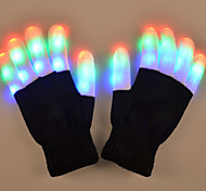 Dancing Light Emitting Glove 003 Colorful Costumes Props LED Light Makeup Costumes Halloween Christmas Supplies