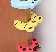 cheap -Door Security Door Card Carmen File Children Cartoon Baby Door Stopper Door Clamp Pinch Hand Security Card(Random Color)