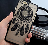 New Matte Embossed Pattern Campanula Printing  PC Material Phone Case  for iPhone 6 / 6S (Assorted Colors)
