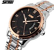 cheap -SKMEI Men's Quartz Japanese Quartz Wrist Watch Calendar / date / day Water Resistant / Water Proof Stainless Steel Band Charm Silver