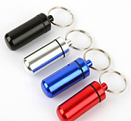 Outdoor First-aid Belt Keychain Portable Sealed Waterproof Cartridge Aluminum Alloy Life-Saving Tank 1