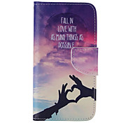 Loving Hand Painted PU Phone Case for Galaxy S7/S7edge