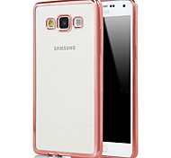 For Samsung Galaxy Case Plating / Transparent Case Back Cover Case Solid Color TPU Samsung A7(2016) / A5(2016) / A9 / A8 / A7 / A5