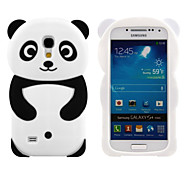 Lovely 3D Animal Shaped Panda Bear Silicon Soft Mobile Phone Case Cover Back Skin For Galaxy S4 mini/S3min