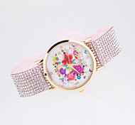 2016 New Arrival Fashionable Ladies Wristwatch With Special  Design Of Strap with Rhinestone Fabric Women's Wristwatch Cool Watches Unique Watches