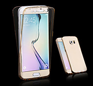 cheap -Case For Samsung Galaxy Samsung Galaxy Case Transparent Full Body Cases Solid Color TPU for A3(2017) A5(2017) A7(2017) A7(2016) A5(2016)