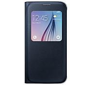 cheap -For Galaxy S7 Edge Flip PU Leather Case Luxury View Window S7 S6 Edge Plus S6