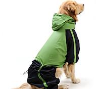 abordables -Gato Perro Impermeable Ropa para Perro A Prueba de Agua Paravientos: Bloques Rojo Verde