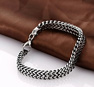 cheap -Chain Bracelet Unique Design Vintage Party Work Casual Fashion Titanium Steel Black Others Jewelry Christmas Gifts Costume Jewelry