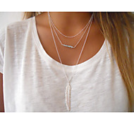 cheap -Women's Crystal Pendant Necklace  -  Fashion Simple Style European Silver Golden Necklace For Party Daily Casual