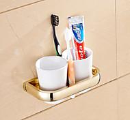 Недорогие -Держатель для зубных щеток Гаджет для ванной / Ti-PVD Неоклассицизм