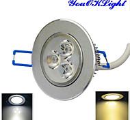 Недорогие -YouOKLight 300 lm Потолочный светильник 3 светодиоды Высокомощный LED Диммируемая Декоративная Тёплый белый Холодный белый AC 110-130 В