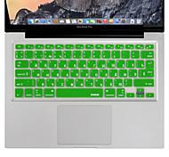 xskn lingua russa pelle della copertura della tastiera del silicone per MacBook Air / MacBook Pro 13 15 17 ci inch / EU Version