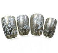 Недорогие -1PCS новый 12x6cm трафареты шаблоны поделок штамповочные пластины ногтей искусство изображения для ногтей ху-L22