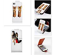 High Heels Muster up-down wiederum über PU-Leder Ganzkörper-Case für iPhone 4 / 4s