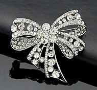 cheap -Women's Cute Bowknot Crystal / Cubic Zirconia Brooches - Work / Cute Style / Fashion Bowknot Silver Brooch For Wedding / Party / Special