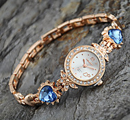cheap -Women's Quartz Bracelet Watch Casual Watch Alloy Band Heart shape Elegant Fashion Gold