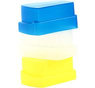 новый силиконовый гибкий флэш-диффузор отскок софтбокс белый + желтый + синий для Никона SB800 / SB600 уп-460 уп-465 уп-467 уп-468