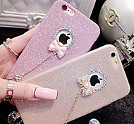 cheap -Glitter Bow Pendant TPU Material Phone Case for iPhone 6s 6 Plus