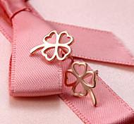 cheap -2016 Korean Unisex 925 Silver Sterling Silver Jewelry Earrings Hollow Clover Stud Earrings 1Pair