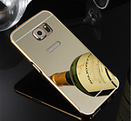 cheap -Plating Aluminum Metal Frame With Mirror Style Back Cover Case For Galaxy S7 edge/S7/S6 Edge Plus/S6 Edge/S6/S5/S4