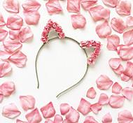 cheap -Cat Ears Headband wedding hair accessories  Kitty Crown  Flower crown Travel Accessories Headwear Accessories