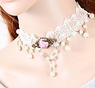 Недорогие -Жен. форма Ожерелья-бархатки Готический ювелирные изделия Ожерелья-обручи Кружево Ткань Ожерелья-бархатки Готический ювелирные изделия