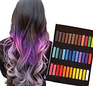 36 цветных временных меловые мелки для волос нетоксичных пастели для окрашивания волос придерживаться Diy инструменты для укладки волос