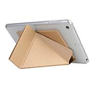 Назначение Чехлы панели С функцией автовывода из режима сна Оригами Чехол Кейс для Сплошной цвет Твердый Искусственная кожа для Apple iPad