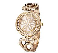 Недорогие -Жен. Модные часы Японский Кварцевый Японский кварц С гравировкой Имитация Алмазный Нержавеющая сталь Группа Elegant Серебристый металл