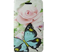 Case For Samsung Galaxy S7 S8 Pink Rose Butterfly Flower Full Body Cover with Card and Stand Case For s4 S3 S3 MINI S6 S6 EDGE