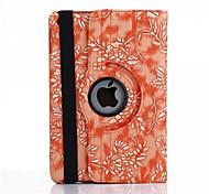 360 Degree Grape Grain PU Leather Flip Cover Case for iPad Air