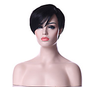 Capless Classical  Hair Style Black 1B Color Short Straight Synthetic Hair  Wig Natural Sexy Daily Wig