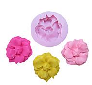 Недорогие -Одно отверстие цветок с Bud силиконовые формы Фондант Пресс-формы Сахар Craft Инструменты Смола цветы Плесень пресс-формы для тортов