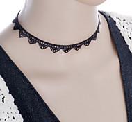 Недорогие -Жен. форма Тату-дизайн Мода Ожерелья-бархатки Татуировка Choker Готический ювелирные изделия Ожерелья-обручи Кружево Ткань