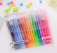 Недорогие -Пластик-Ручки Water Color-Милый стиль / Деловые / Многофункциональные