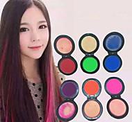 6 Colors Temporary Hair Chalk Powder  Pastel Hair Dye Dye Soft Pastels Salon Party Christmas DIY