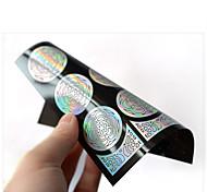 Цветы-3D формы для акрилового маникюра-Пальцы рук / Пальцы ног-9*10.5cm-1pcs hollow nail sticker template-ПВХ