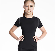 Women's Running T-Shirt Short Sleeves Quick Dry Breathable Compression Sweat-wicking Compression Clothing Top for Yoga Exercise & Fitness