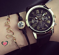 cheap -Women's Quartz Bracelet Watch Casual Watch PU Band Charm Fashion Black White Green Pink