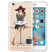 For iPhone X iPhone 8 iPhone 6 iPhone 6 Plus Case Cover Shockproof Transparent Pattern Back Cover Case Sexy Lady Soft Silicone for iPhone