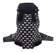 Cat / Dog Front Carrier Pet Legs Out Travel Backpack Cute Bowknot Pattern Nylon / Fabric Black