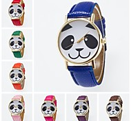 Women's Fashion Watch Quartz PU Band Black White Blue Red Orange Brown Green Pink Purple Yellow Khaki Rose