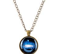 Недорогие -Муж. Жен. MOON Ожерелья с подвесками  -  Простой стиль Серебряный Бронзовый Ожерелье Назначение Для вечеринок Повседневные