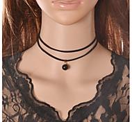 Женский Ожерелья-бархатки Ожерелья-обручи Готический ювелирные изделия Татуировка Choker Кружево Ткань Тату-дизайн Мода Бижутерия