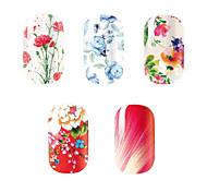 5Pcs/Set Fashion Charming Flower Beauty Girl Nail Art Nail Stickers Nail Tools Gel Decals Makeup