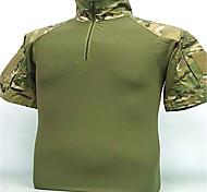 Недорогие -Футболка для охоты Дышащий Фитиль Муж. С короткими рукавами Рубашка Верхняя часть для Отдых и Туризм Охота Рыбалка Спорт в свободное