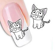 Недорогие -5шт / комплект переноса воды наклейки для ногтей милый дизайн кошки 3d маникюр красоты продукт для ногтей марка воды отличительные знаки