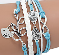 cheap -Women's Leather Bracelet Unique Design Casual Handmade Fashion Braided/Cord Leather Leather Other Alloy Others Bird Animal Jewelry