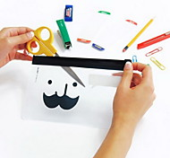 cheap -Mustache Pattern Translucent Frosted Ziplock Bag(1 PCS)